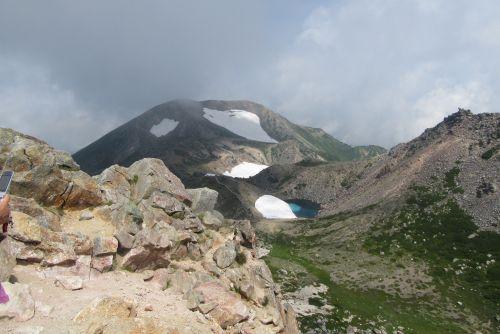大汝峰と池