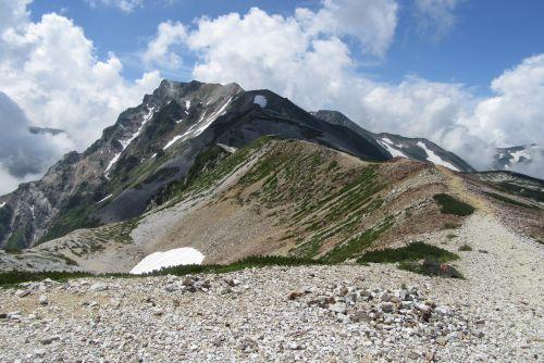 白馬岳を望む