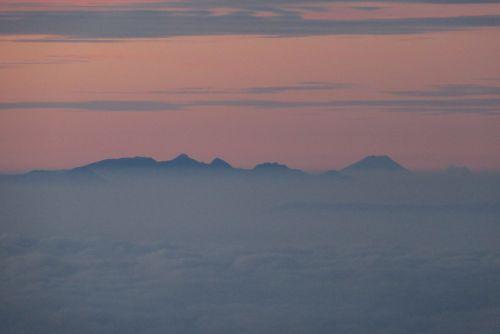 八ヶ岳と富士山