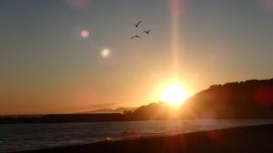 日高アポイ岳近くの海岸・夕焼け