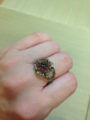 ピンク・グリーン指輪