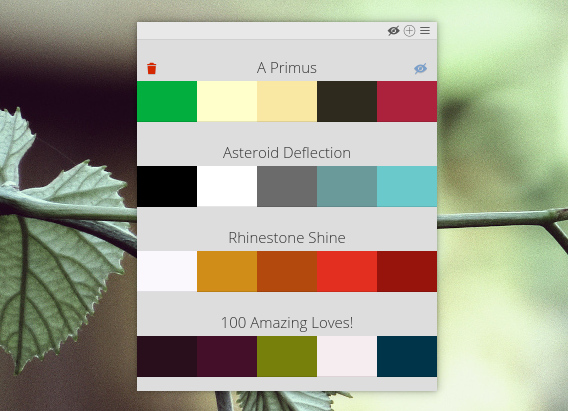 Color Palette Pocket Chromeアプリ カラーパレット 配色サンプルの取得