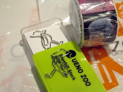 上野動物園ハシビロコウのクリップマスキングテープ