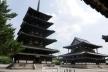 法隆寺、金堂と五重塔