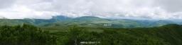 南暑寒岳から雨竜沼湿原遠望(パノラマ)
