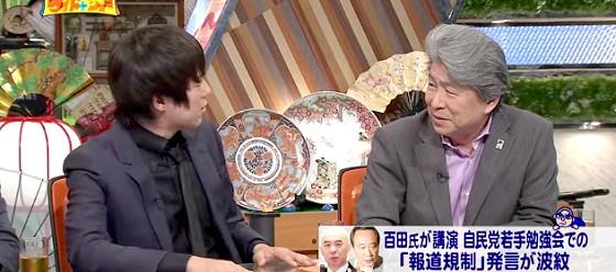 ワイドナショー画像 ウーマンラッシュアワー村本大輔 百田尚樹発言に関して鳥越俊太郎に質問 2015年7月5日