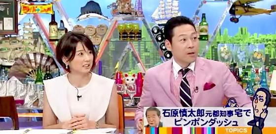 ワイドナショー画像 秋元優里アナ 東野幸治 石原慎太郎の自宅がピンポンダッシュの被害に 2015年7月19日