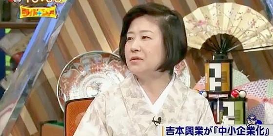 ワイドナショー画像 山口恵以子「吉本興業が1億円に減資って売れてる芸人の年収より低い」 2015年8月2日