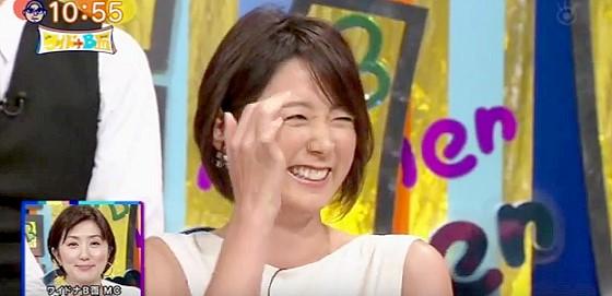 ワイドナショー画像 秋元優里アナ 今週は佐々木アナが夏休みでイジられる秋元アナ 2015年8月2日