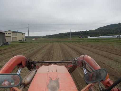 20150627_アスパラ畑基肥施肥