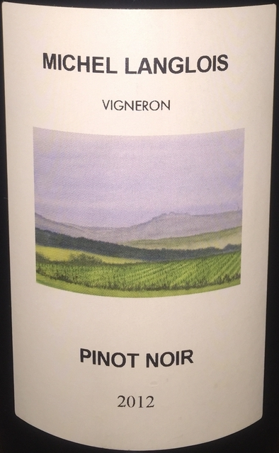 Michel Langlois Pinot Noir 2012