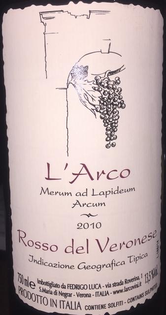 LArco Merum ad Lapideum Arcum Rosso Del Veronese 2010