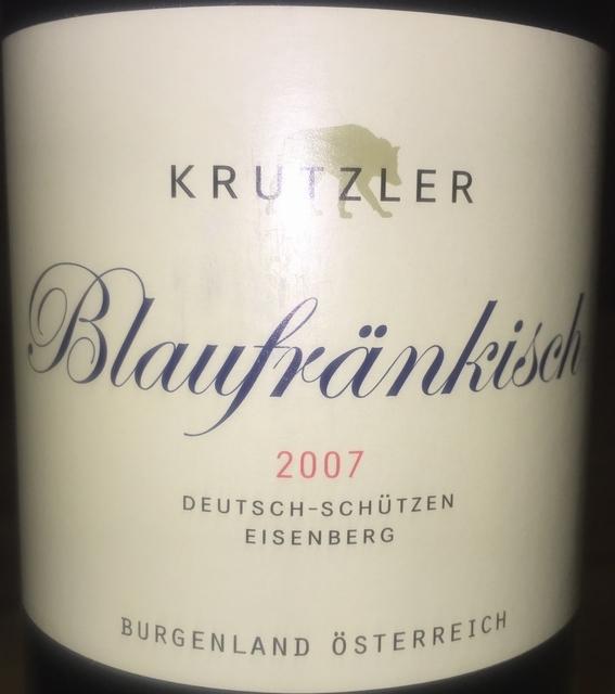 Blaufrankisch Krutzler 2007 Part1