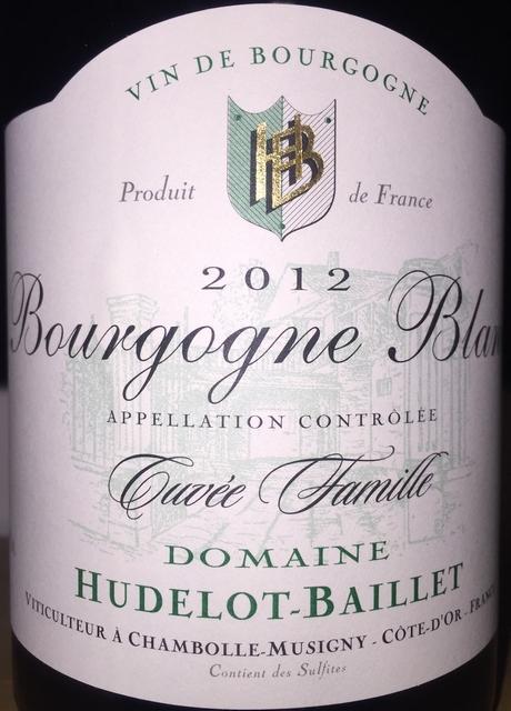 Bourgogne Blanc Cuvee Famille Hudelot Baillet 2012