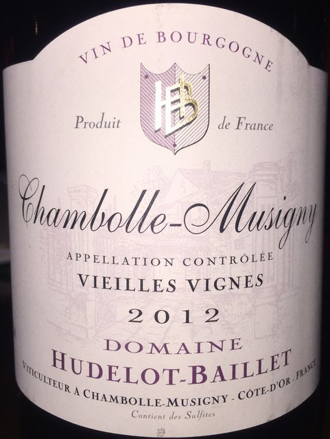 Chambolle Musigny Vieilles Vignes Hudelot Baillet 2012
