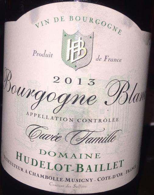 Bourgogne Blanc Cuvee Famille Hudelot Baillet 2013 part1