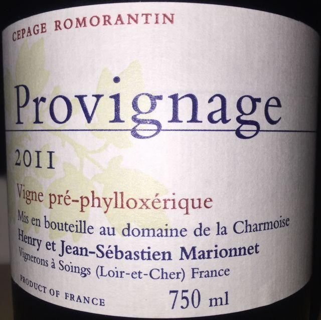Provignage Henry Marionnet Domaine de la Charmoise 2011