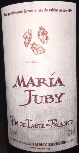 Maria Juby Vin de Table de France Patrick Baudouin