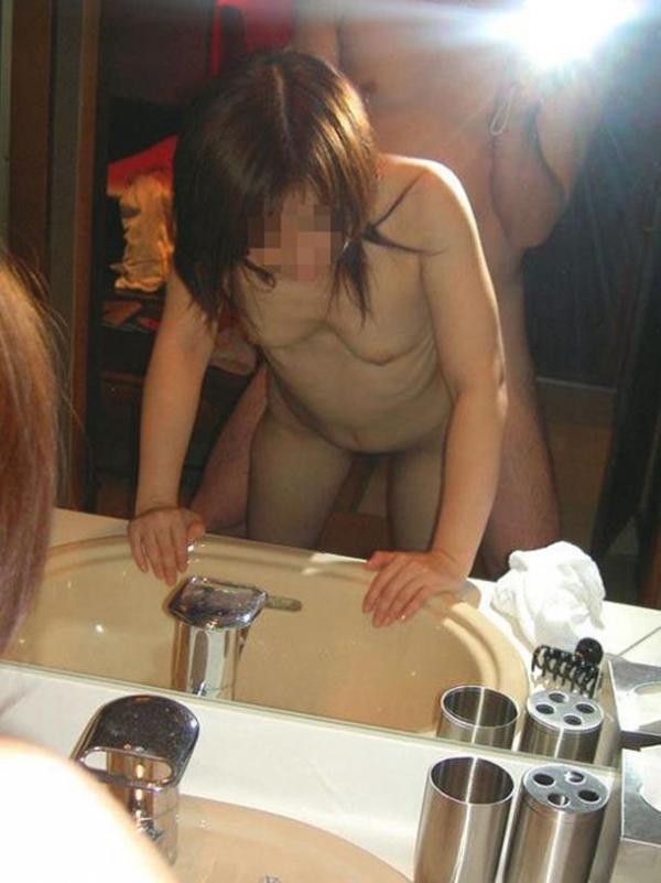 鏡ハメ撮り画像 15