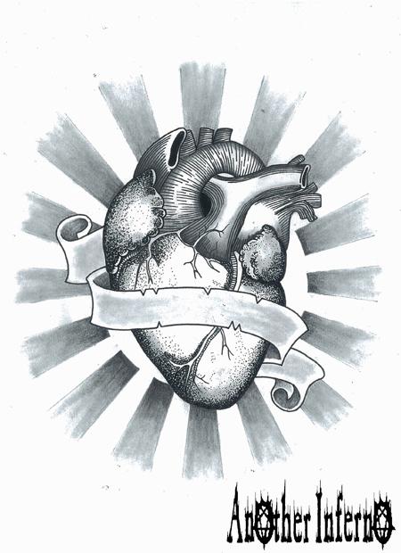 心臓 タトゥー tattoo 名古屋 愛知 栄 大須 タトゥースタジオ