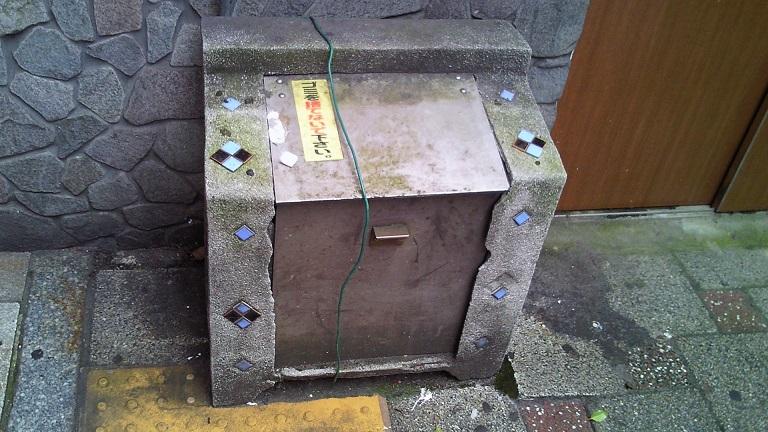 大街道・古いゴミ箱