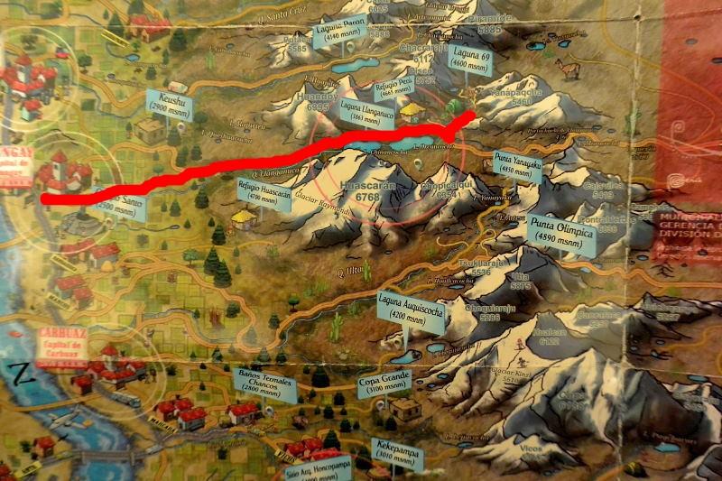 ワスカラン地図1