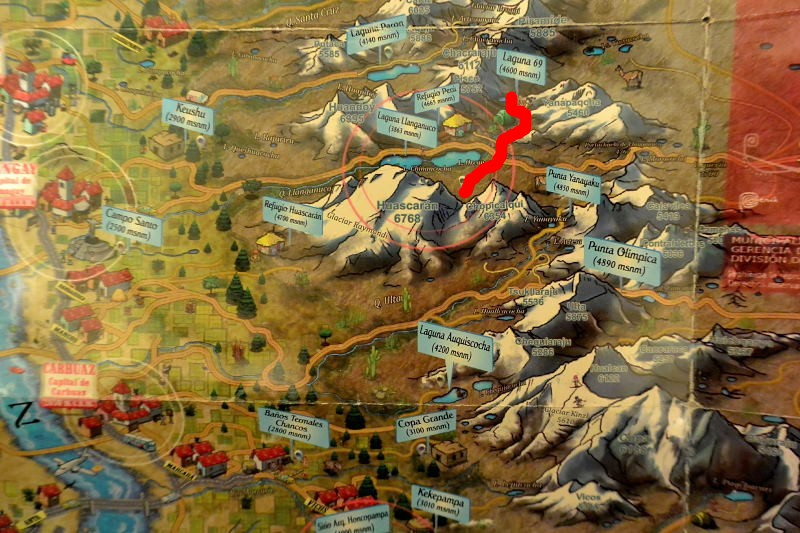 ワスカラン地図2
