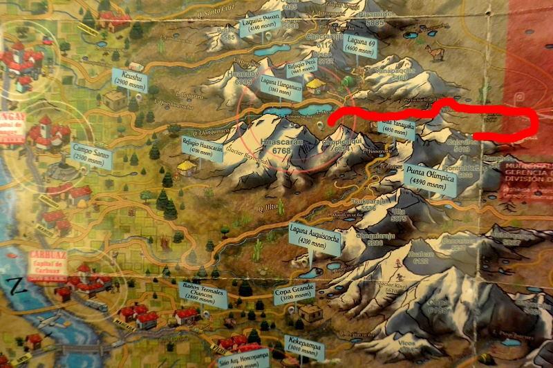 ワスカラン地図3