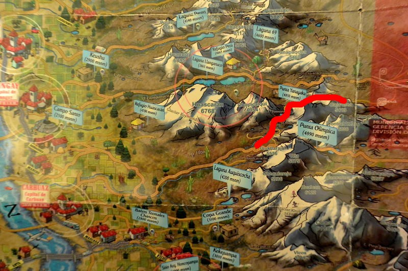 ワスカラン地図4