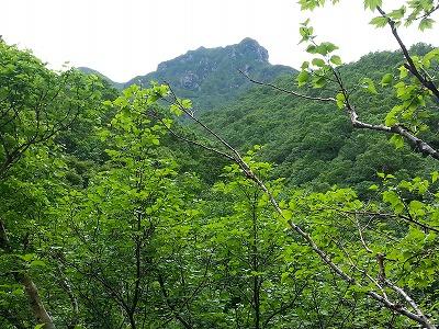 斜里岳旧道二の沢天狗岩