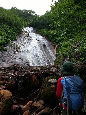斜里岳羽衣の滝