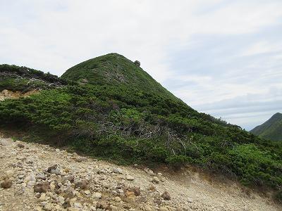 斜里岳馬の背竜の玉