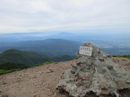 斜里岳山頂7月