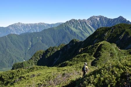 74霞沢岳下山