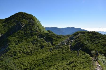 75霞沢岳下山