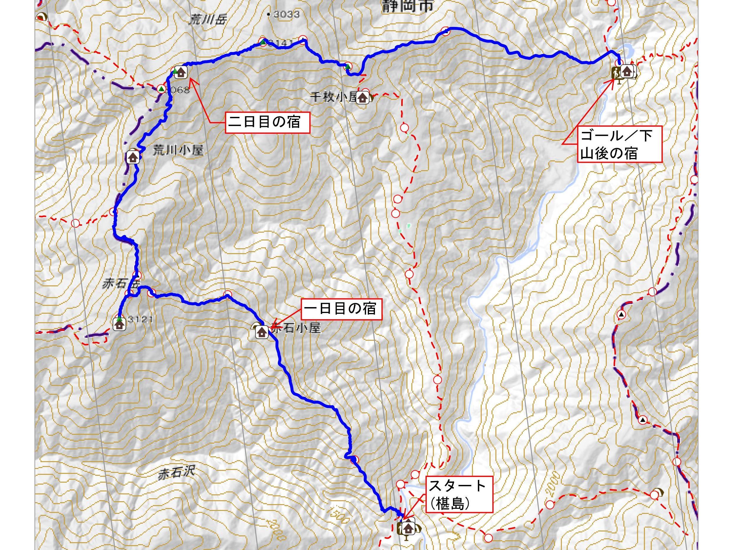 1-コースタイム&登山計画付き登山地図 荒川三山・赤石岳 _01