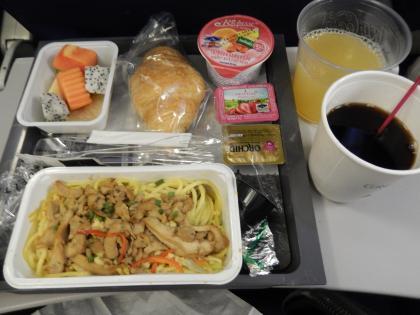 バンコク2015.4デルタ航空成田行・機内食