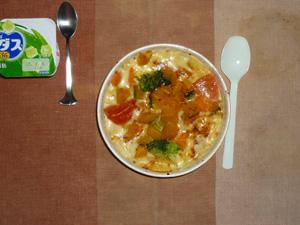 緑黄色野菜のグラタン,アロエヨーグルト