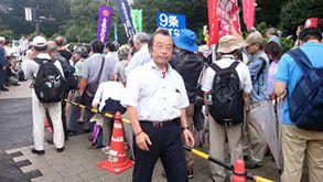 【戦争法案反対❗国会議事堂を囲む抗議行動に参加】-4