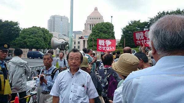 【戦争法案反対❗国会議事堂を囲む抗議行動に参加】-1