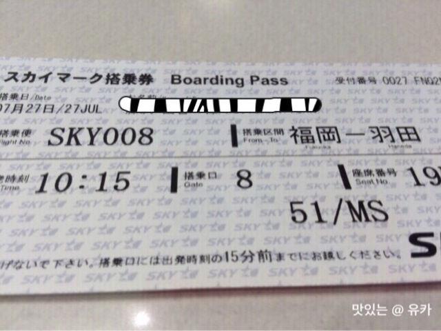 スカイマーク搭乗券②