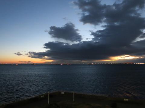 2015年初日の出 横浜港シンボルタワー