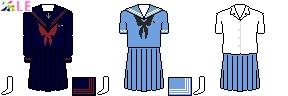 [福岡]福岡女学院中学校・高等学校制服ドット絵