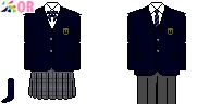 [東京]関東第一高校制服ドット絵