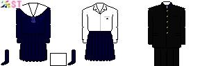 [徳島]徳島県立小松島高等学校制服ドット絵
