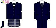 [北海道]白樺学園高等学校制服ドット絵