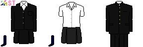 [静岡]静岡県立静岡高校制服ドット絵