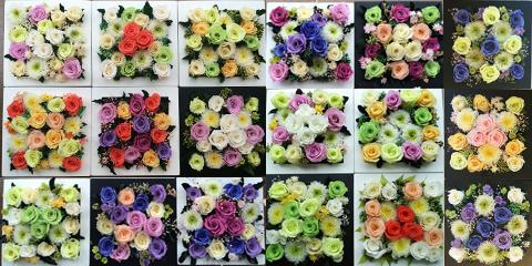 お花いっぱいのフレーム