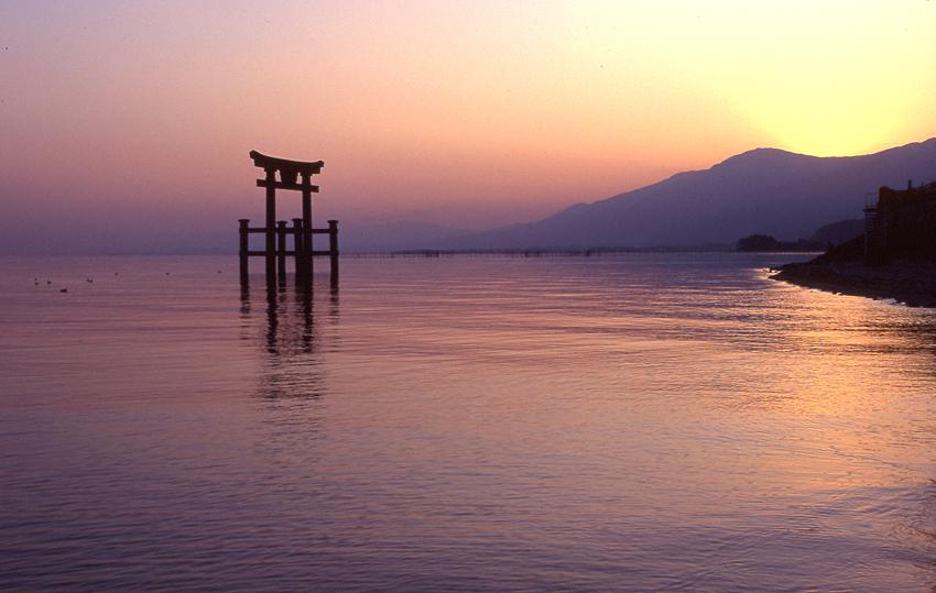 琵琶湖夕景01