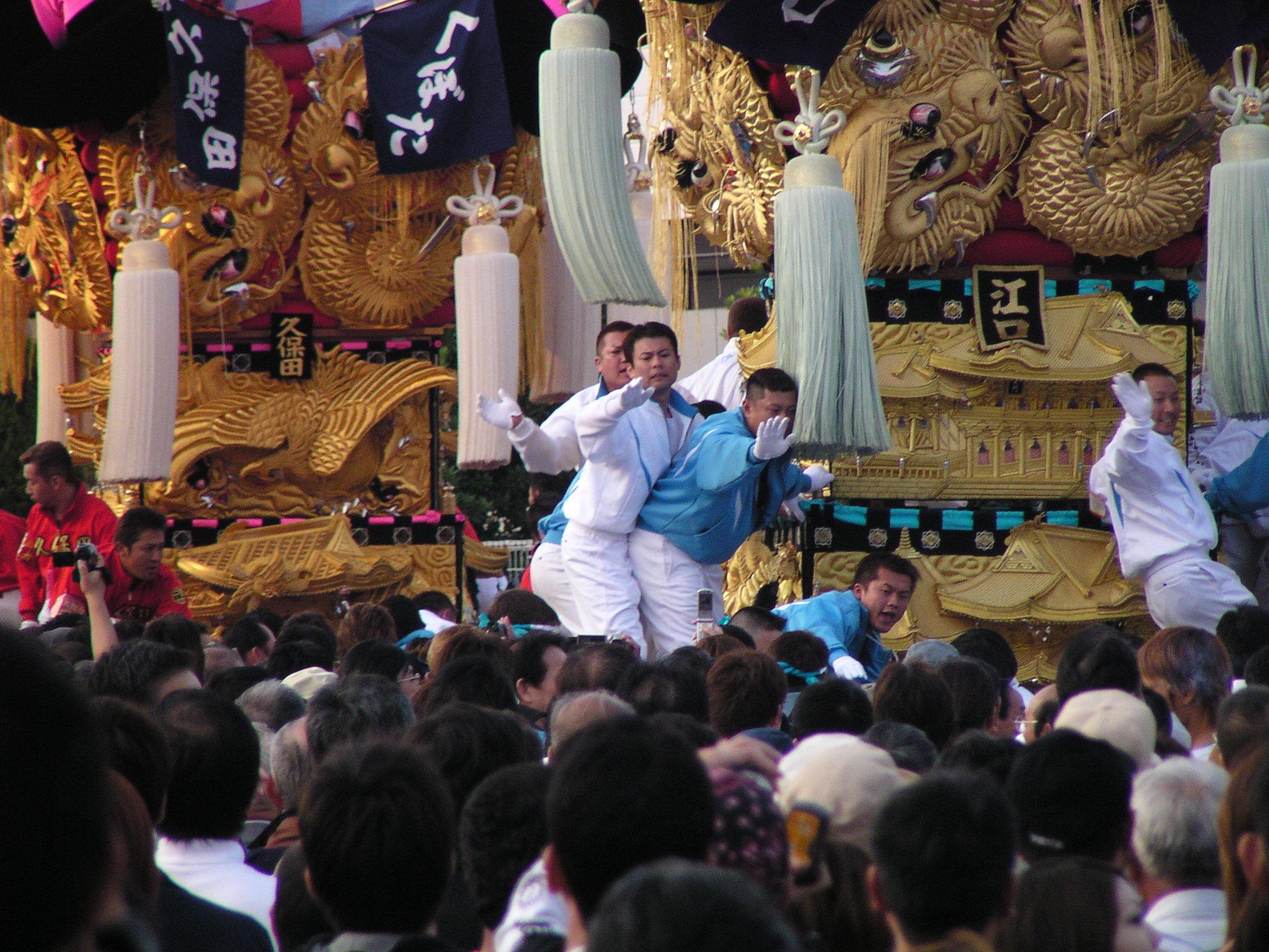 江口太鼓台vs久保田太鼓台の喧嘩